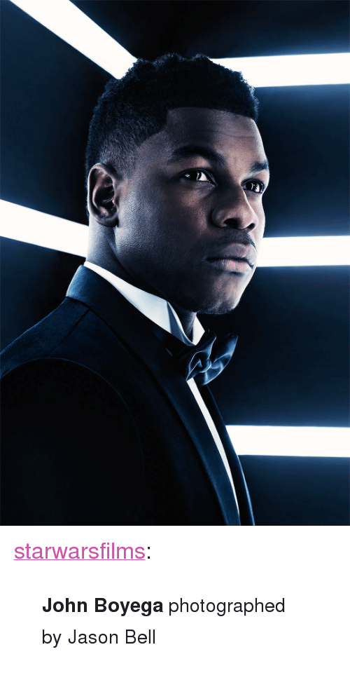 "John Boyega: <p><a href=""https://starwarsfilms.tumblr.com/post/168976479280/john-boyega-photographed-by-jason-bell"" class=""tumblr_blog"">starwarsfilms</a>:</p>  <blockquote><p><small><b>John Boyega</b> photographed by Jason Bell</small></p></blockquote>"