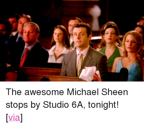 """uproxx: <p>The awesome Michael Sheen stops by Studio 6A, tonight!</p> <p>[<a href=""""http://www.uproxx.com/tv/2013/01/20-things-well-miss-the-most-about-30-rock/#page/1"""" target=""""_blank"""">via</a>]</p>"""