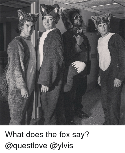 The Fox Say: <p>What does the fox say? @questlove @ylvis</p>
