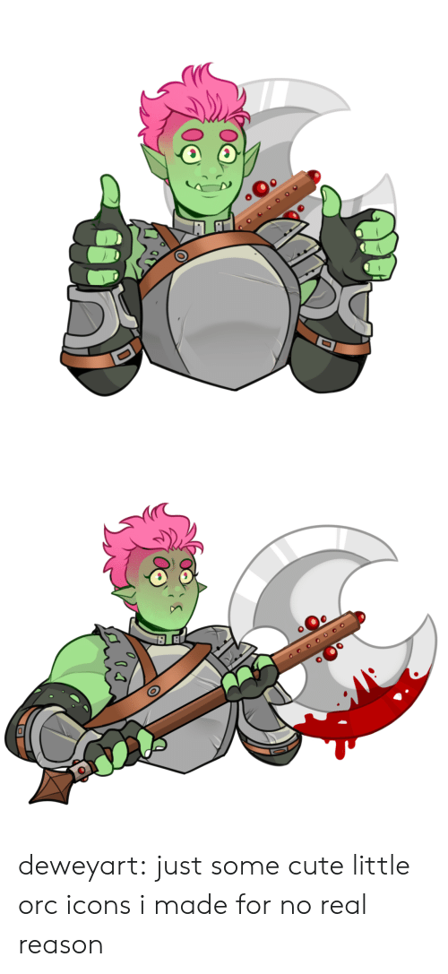 icons: оео deweyart:  just some cute little orc icons i made for no real reason