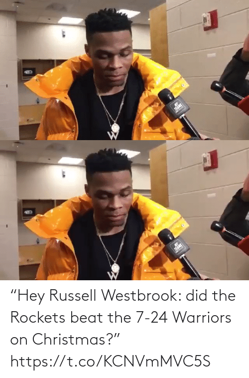 """Warriors: """"Hey Russell Westbrook: did the Rockets beat the 7-24 Warriors on Christmas?"""" https://t.co/KCNVmMVC5S"""