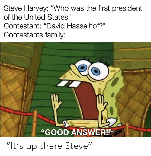 "steve: ""It's up there Steve"""