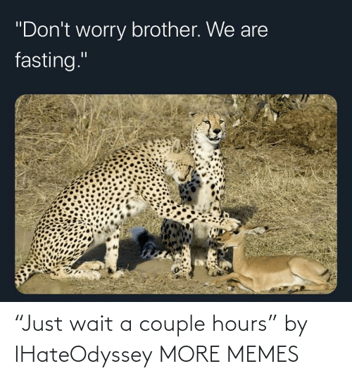 "couple: ""Just wait a couple hours"" by IHateOdyssey MORE MEMES"