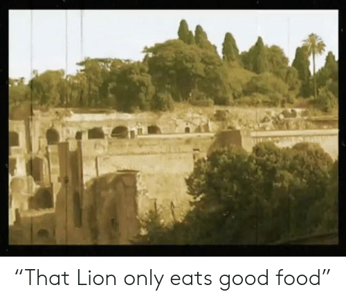 "Food, Good, and Lion: ""That Lion only eats good food"""