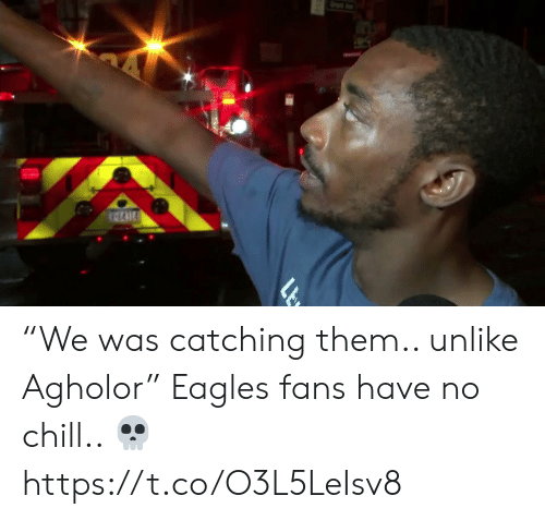 """Eagles Fans: """"We was catching them.. unlike Agholor""""   Eagles fans have no chill.. ?  https://t.co/O3L5LeIsv8"""