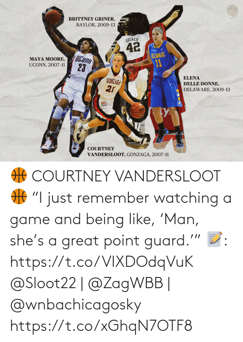 """watching: 🏀 COURTNEY VANDERSLOOT 🏀  """"I just remember watching a game and being like, 'Man, she's a great point guard.'""""  📝: https://t.co/VIXDOdqVuK  @Sloot22   @ZagWBB   @wnbachicagosky https://t.co/xGhqN7OTF8"""