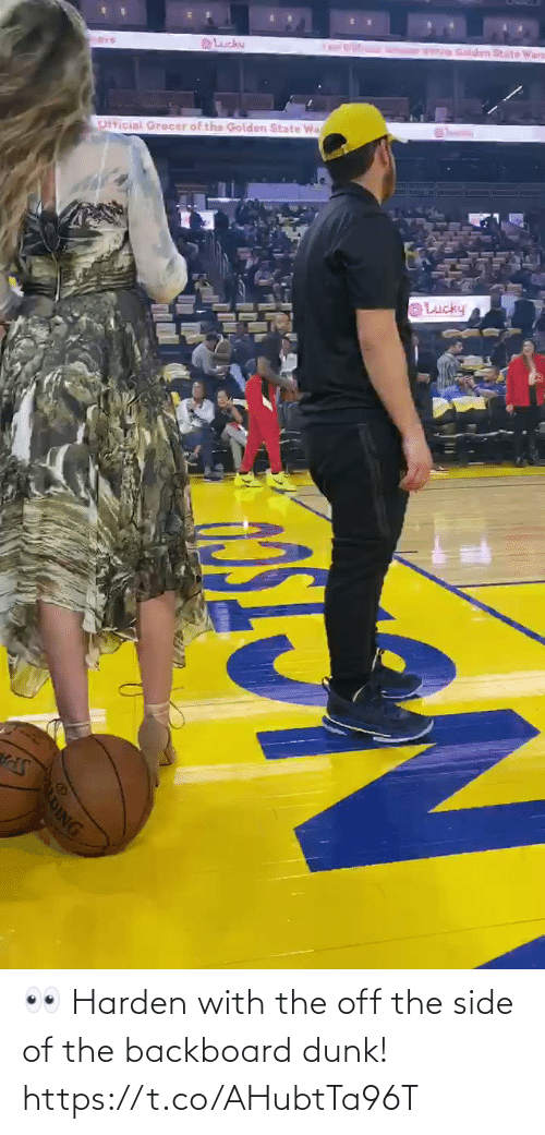 Dunk: 👀 Harden with the off the side of the backboard dunk!  https://t.co/AHubtTa96T