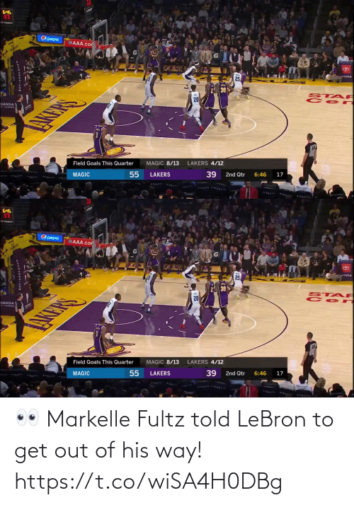 His: 👀 Markelle Fultz told LeBron to get out of his way!  https://t.co/wiSA4H0DBg