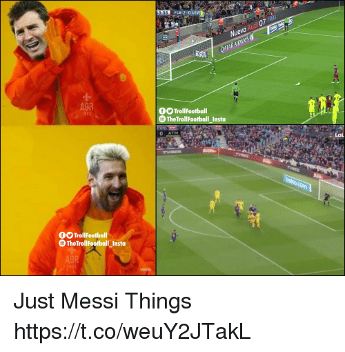 Football, Memes, and Audi: 0:08  FCB 2.0 LEV  Nuevo Audi 07 )  QATARAIRWAYS  BBVA  1b  TrollFootball  ⓞTheTrol!Football Insta  0 ATM  TrollFootball  TheTrollFootball_Insta  A9R Just Messi Things https://t.co/weuY2JTakL