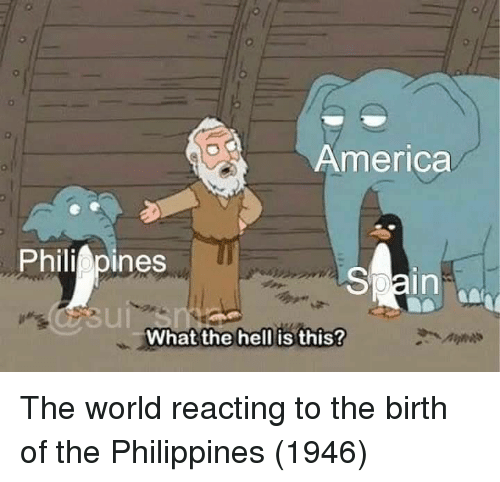 Reacting: 0  America  Philippines  0  in  What the hell is this? The world reacting to the birth of the Philippines (1946)
