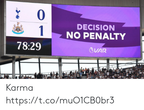 Penalty: 0  DECISION  1  NO PENALTY  78:29  VAR Karma https://t.co/muO1CB0br3