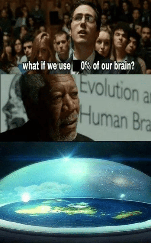 Memes, Brain, and 🤖: 0% of our brain?  tvolutiona  what if we use  Human Bra