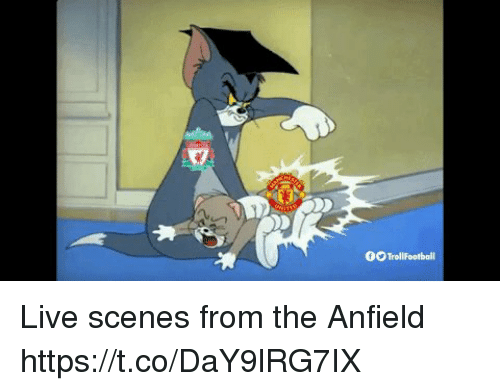Memes, Live, and 🤖: 00Trollfootball Live scenes from the Anfield https://t.co/DaY9lRG7IX