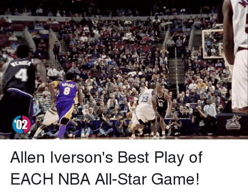 NBA All-Star Game: '02 Allen Iverson's Best Play of EACH NBA All-Star Game!