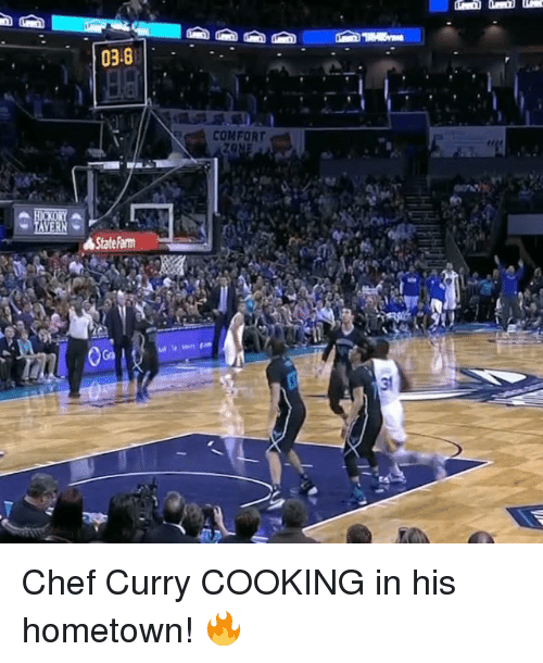 Chef Curry: 03.6  TAVERN  4 State Farm  COMFORT Chef Curry COOKING in his hometown! 🔥
