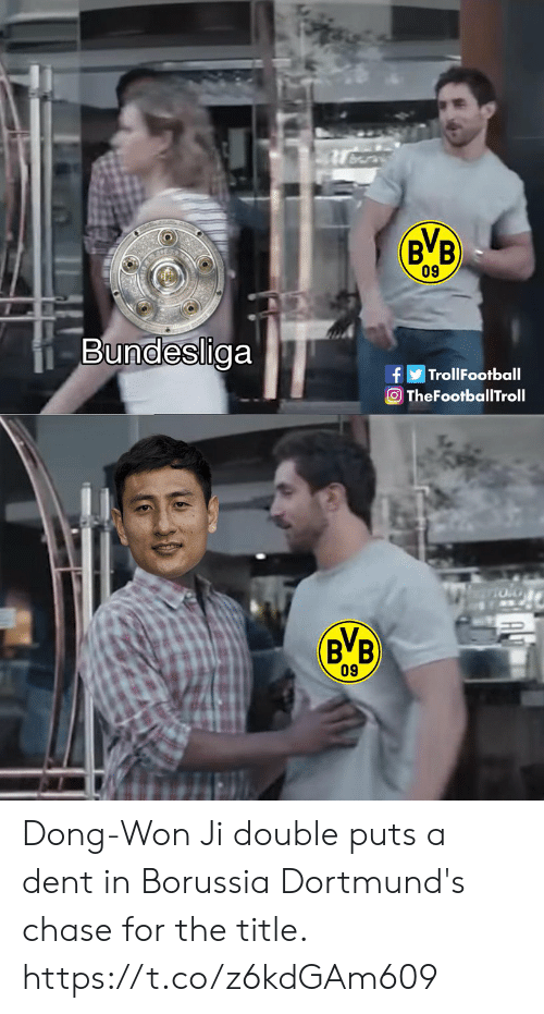 bundesliga: 09  Bundesliga  TrollFootball  TheFootballTroll  BVB  09 Dong-Won Ji double puts a dent in Borussia Dortmund's chase for the title. https://t.co/z6kdGAm609