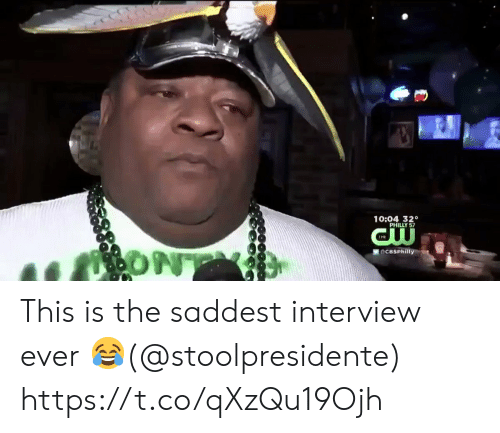 Football, Nfl, and Sports: 10:04 320  ONT  DCBSPhilly This is the saddest interview ever 😂(@stoolpresidente) https://t.co/qXzQu19Ojh