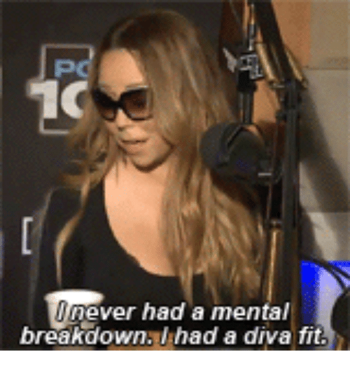 Fit, Breakdown, and Ever: 10  ever had a menta  breakdown. had a diva fit
