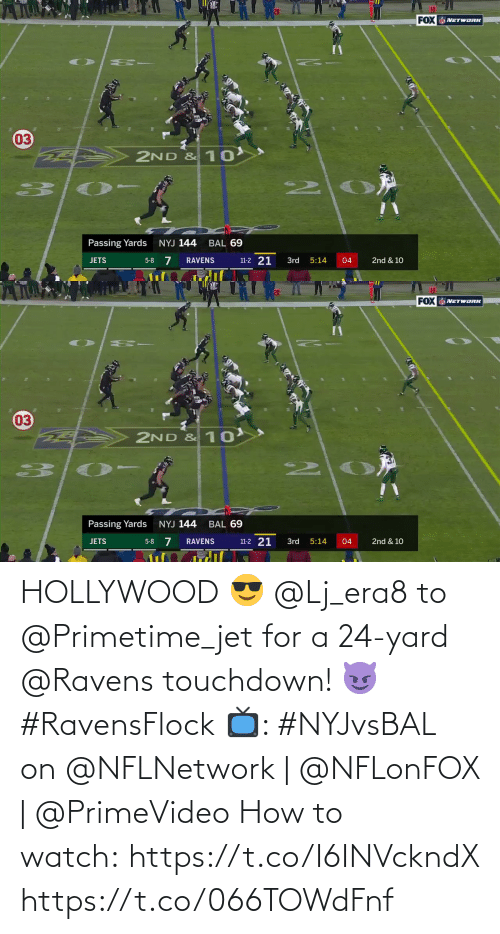 7/11, Memes, and How To: 10  FOX NETWORK  03  2ND & 10  2.  Passing Yards  NYJ 144  BAL 69  5-8 7  11-2 21  JETS  3rd  04  2nd & 10  RAVENS  5:14   10  20  FOX NETWORK  03  2ND & 10  2.  Passing Yards  NYJ 144  BAL 69  11-2 21  5-8 7  2nd & 10  JETS  RAVENS  3rd  5:14  04 HOLLYWOOD 😎  @Lj_era8 to @Primetime_jet for a 24-yard @Ravens touchdown! 😈 #RavensFlock  📺: #NYJvsBAL on @NFLNetwork | @NFLonFOX | @PrimeVideo How to watch: https://t.co/I6INVckndX https://t.co/066TOWdFnf