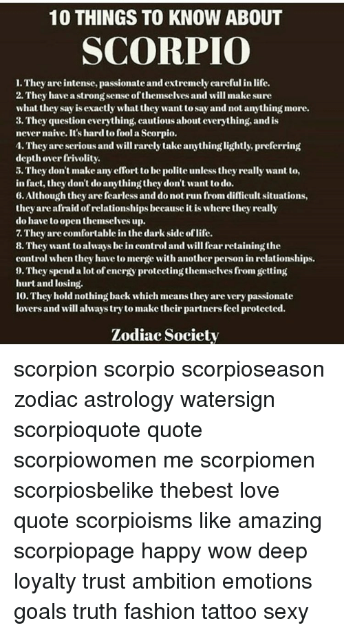 things about scorpio