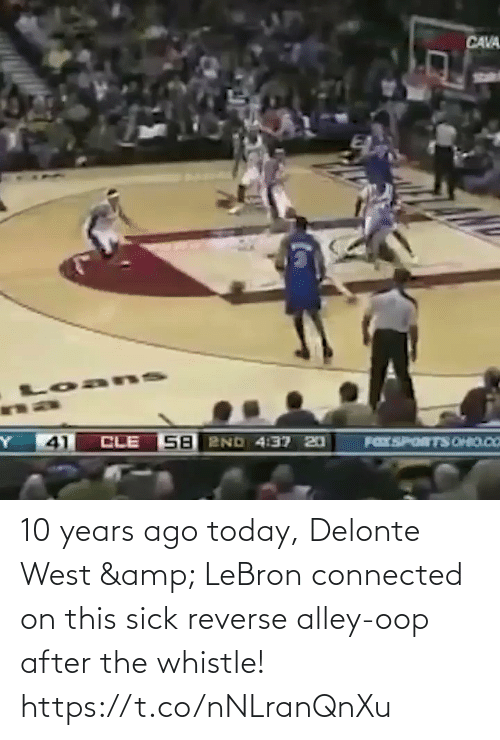 After The: 10 years ago today, Delonte West & LeBron connected on this sick reverse alley-oop after the whistle!    https://t.co/nNLranQnXu