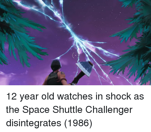Challenger: 12 year old watches in shock as the Space Shuttle Challenger disintegrates (1986)