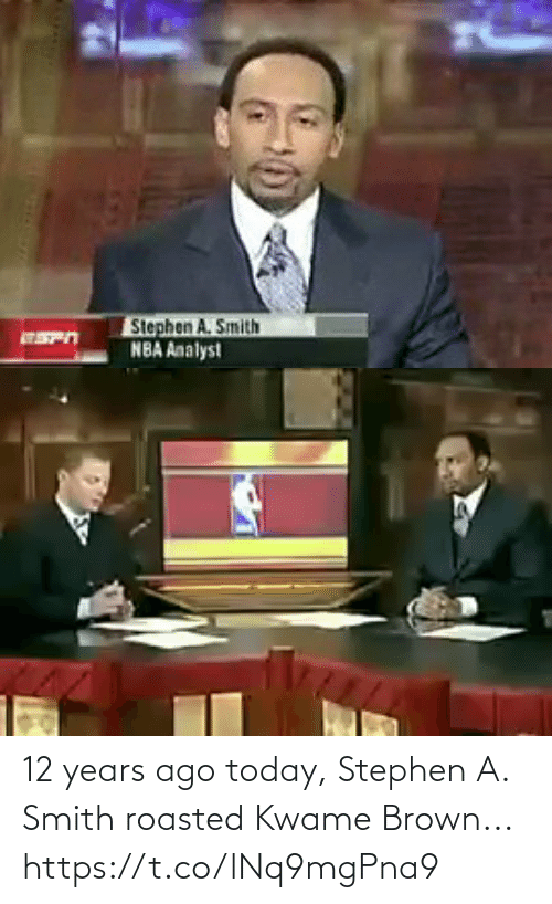 years: 12 years ago today, Stephen A. Smith roasted Kwame Brown... https://t.co/lNq9mgPna9