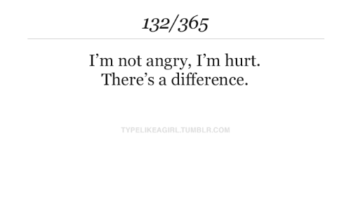 Angry, Com, and  Hurt: 132/365  I'm not angry, I'm hurt.  There's a difference.  TYPELIKEAGIRLTUMBLR.COM