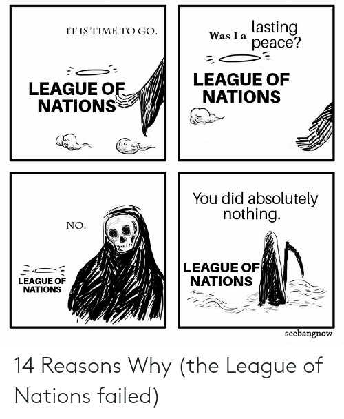 The League: 14 Reasons Why (the League of Nations failed)