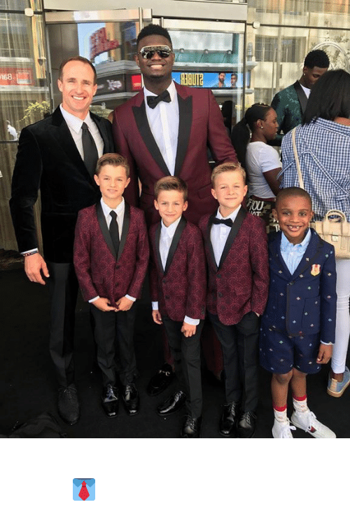 At&t, Drew Brees, and Kids: 168  an  FOU  AT  T Drew Brees' kids matched Zion 👔  (via Drew Brees)