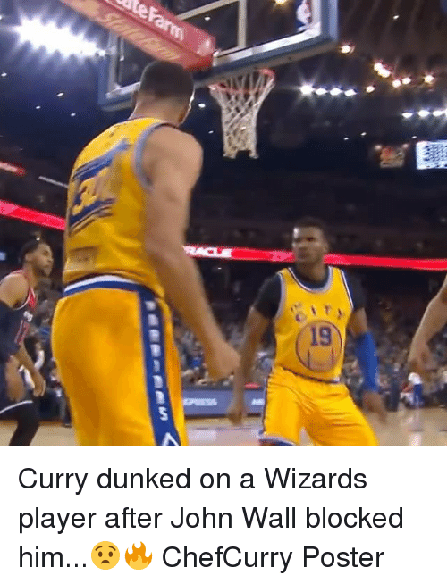 John Wall Memes And Wizards 19 Curry Dunked On A Player After