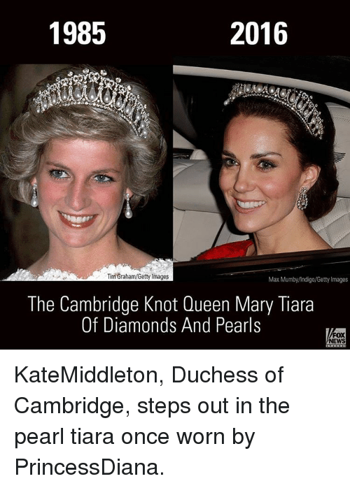 1985 2016 Tim Grahamgetty Images Max Mumbyindigogetty Images The Cambridge Knot Queen Mary Tiara Of Diamonds And Pearls Fox News Katemiddleton Duchess Of Cambridge Steps Out In The Pearl Tiara Once Worn