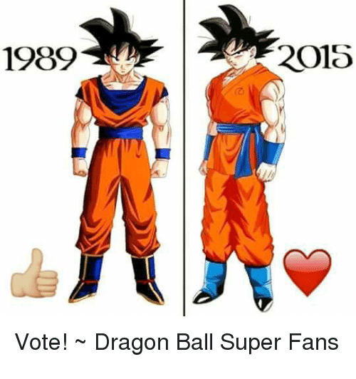 Memes, Dragon Ball Super, and 🤖: 1989  2015  Vote! Dragon Ball Super Fans