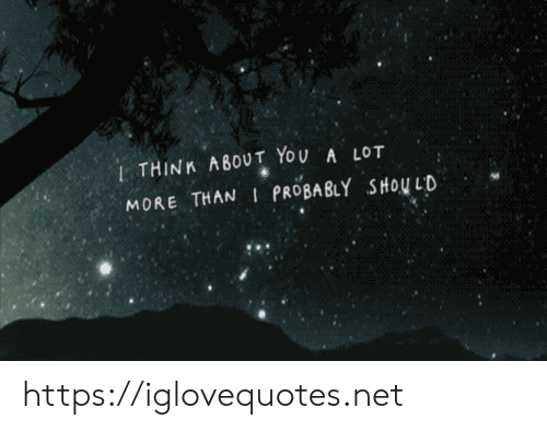 Net, You, and Href: 1THINK ABOUT YOU A LOT  MORE THAN I PROBABLY SHOU LD https://iglovequotes.net