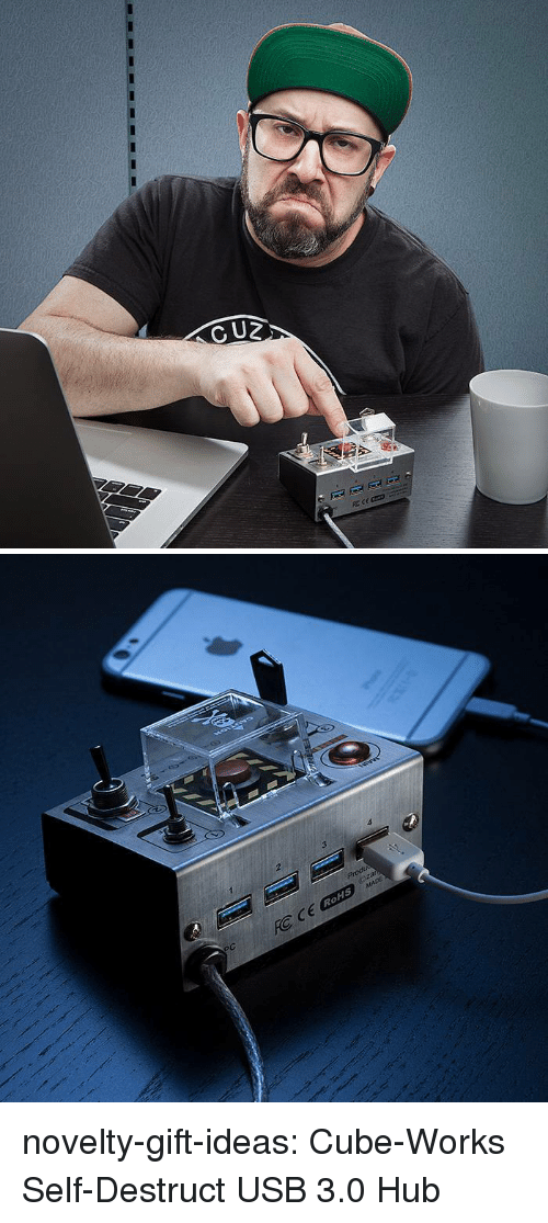 Tumblr, Blog, and Usb: 2  3  RoHS novelty-gift-ideas:  Cube-Works Self-Destruct USB 3.0 Hub