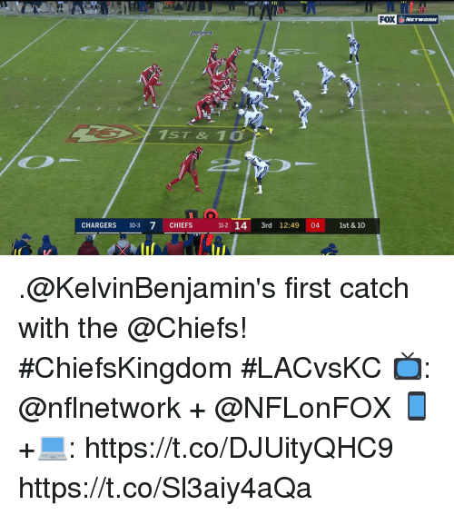 7/11, Memes, and Chargers: 20  FOX NETwone  ST &  CHIEFS 12 14 3rd 12:49 04 1st & 10  CHARGERS 103 7  11-2 14 3rd 12:49 04 1st & 10 .@KelvinBenjamin's first catch with the @Chiefs! #ChiefsKingdom  #LACvsKC  📺: @nflnetwork + @NFLonFOX 📱+💻: https://t.co/DJUityQHC9 https://t.co/Sl3aiy4aQa