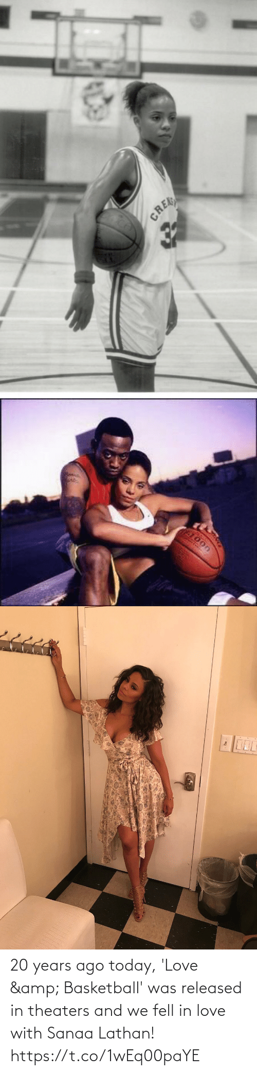 in love: 20 years ago today, 'Love & Basketball' was released in theaters and we fell in love with Sanaa Lathan! https://t.co/1wEq00paYE