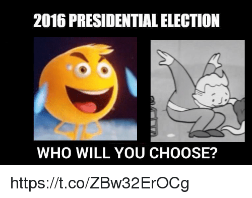 Presidential election: 2016 PRESIDENTIAL ELECTION  WHO WILL YOU CHOOSE? https://t.co/ZBw32ErOCg