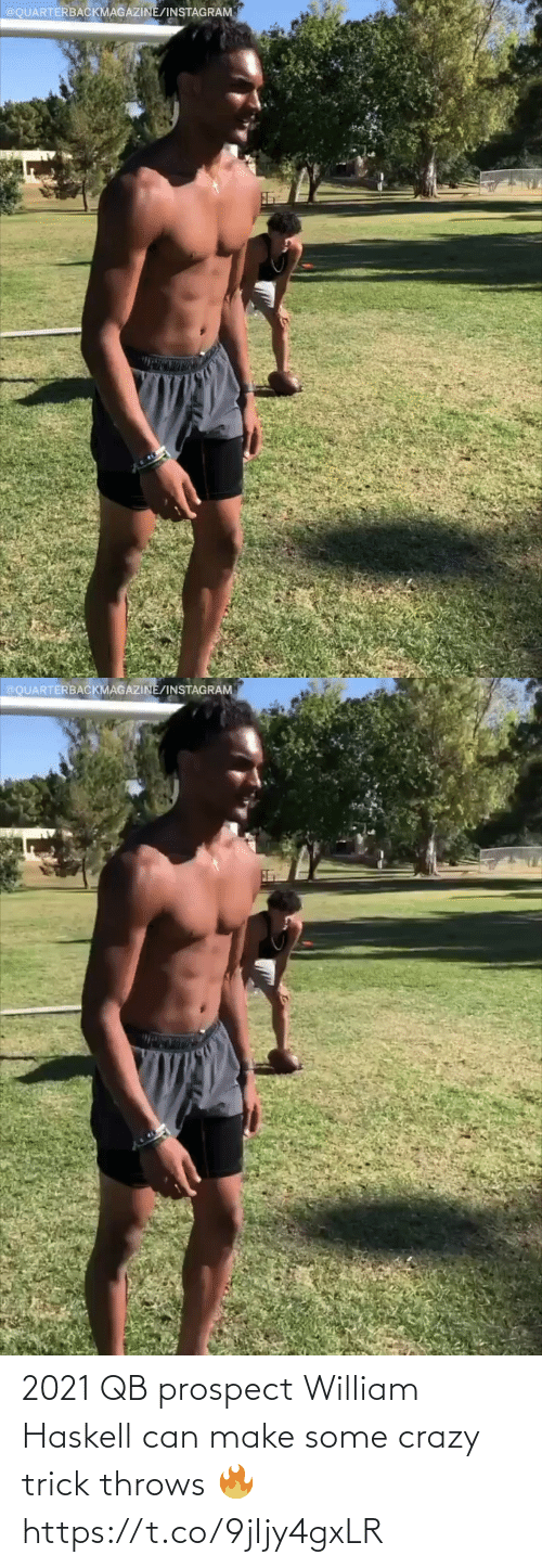 Trick: 2021 QB prospect William Haskell can make some crazy trick throws 🔥 https://t.co/9jIjy4gxLR