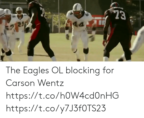 Carson: 23  21 The  Eagles OL blocking for Carson Wentz https://t.co/h0W4cd0nHG https://t.co/y7J3f0TS23