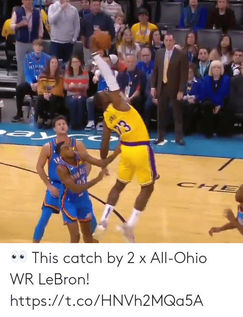Memes, Lebron, and Ohio: 23  CH  PAR 👀 This catch by 2 x All-Ohio WR LeBron!  https://t.co/HNVh2MQa5A