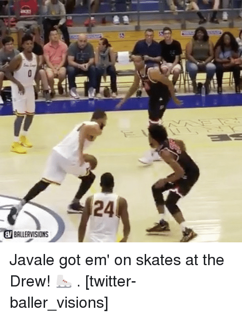 Basketball, Golden State Warriors, and Sports: 24  BALLERVISIONS Javale got em' on skates at the Drew! ⛸ . [twitter-baller_visions]
