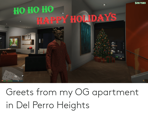 Perro: $287583  НО НО НО  HAAPPY HOLDAYS Greets from my OG apartment in Del Perro Heights