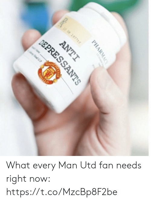 Soccer, Pharmacy, and Anti:  #  2977  09  ANC  adG  afGP  PHARMACY  ANTI  DEPRESSANTS  CRESTER  UNIIED What every Man Utd fan needs right now: https://t.co/MzcBp8F2be