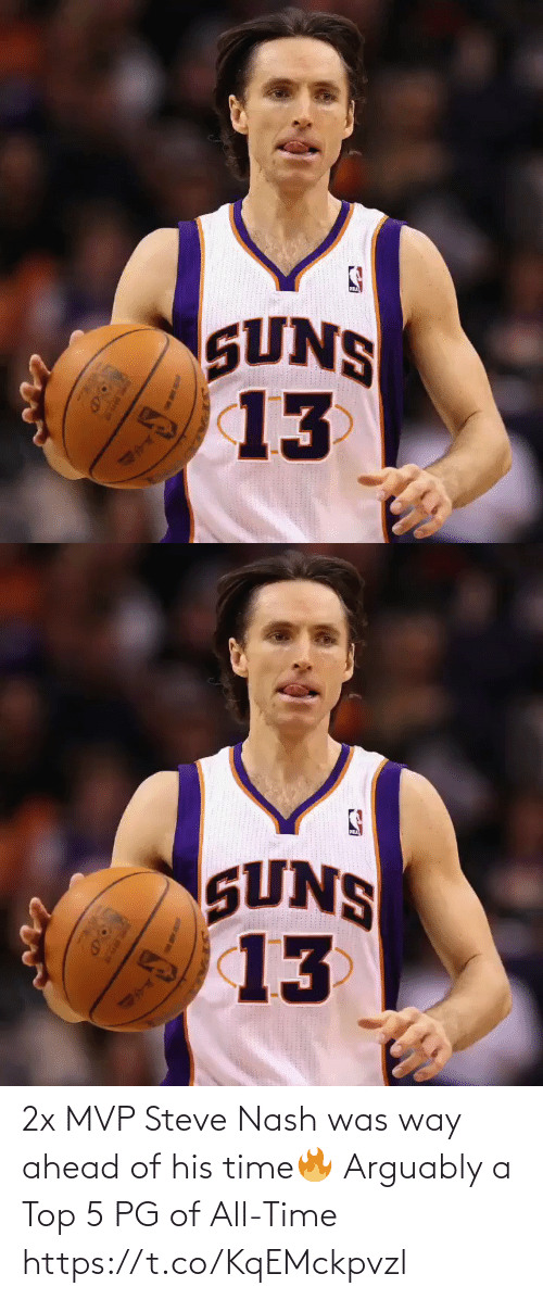top: 2x MVP Steve Nash was way ahead of his time🔥  Arguably a Top 5 PG of All-Time https://t.co/KqEMckpvzl