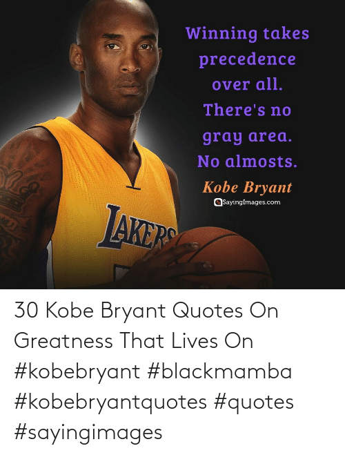 greatness: 30 Kobe Bryant Quotes On Greatness That Lives On #kobebryant #blackmamba #kobebryantquotes #quotes #sayingimages