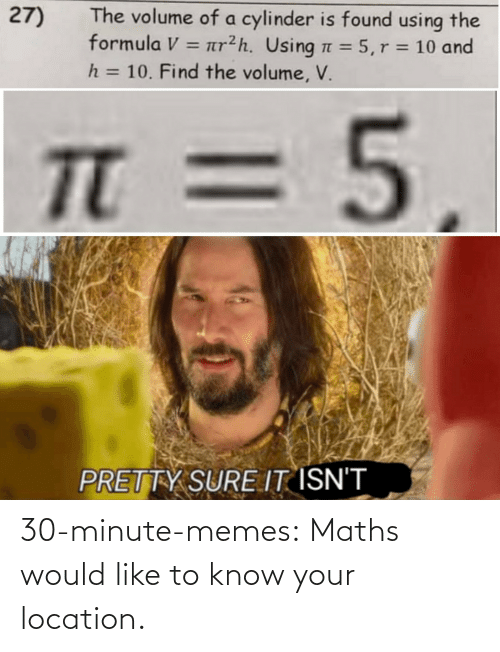 Location: 30-minute-memes:  Maths would like to know your location.