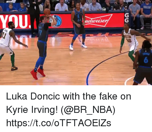 Kyrie Irving: 34  wesen Luka Doncic with the fake on Kyrie Irving!   (@BR_NBA)  https://t.co/oTFTAOElZs