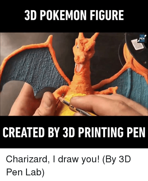 3d pokemon: 3D POKEMON FIGURE  PEN  CREATED BY 3D PRINTING PEN Charizard, I draw you! (By 3D Pen Lab)