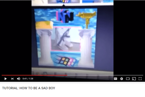 sad boy: 4) 0:41 1:28  TUTORIAL: HOW TO BE A SAD BOY